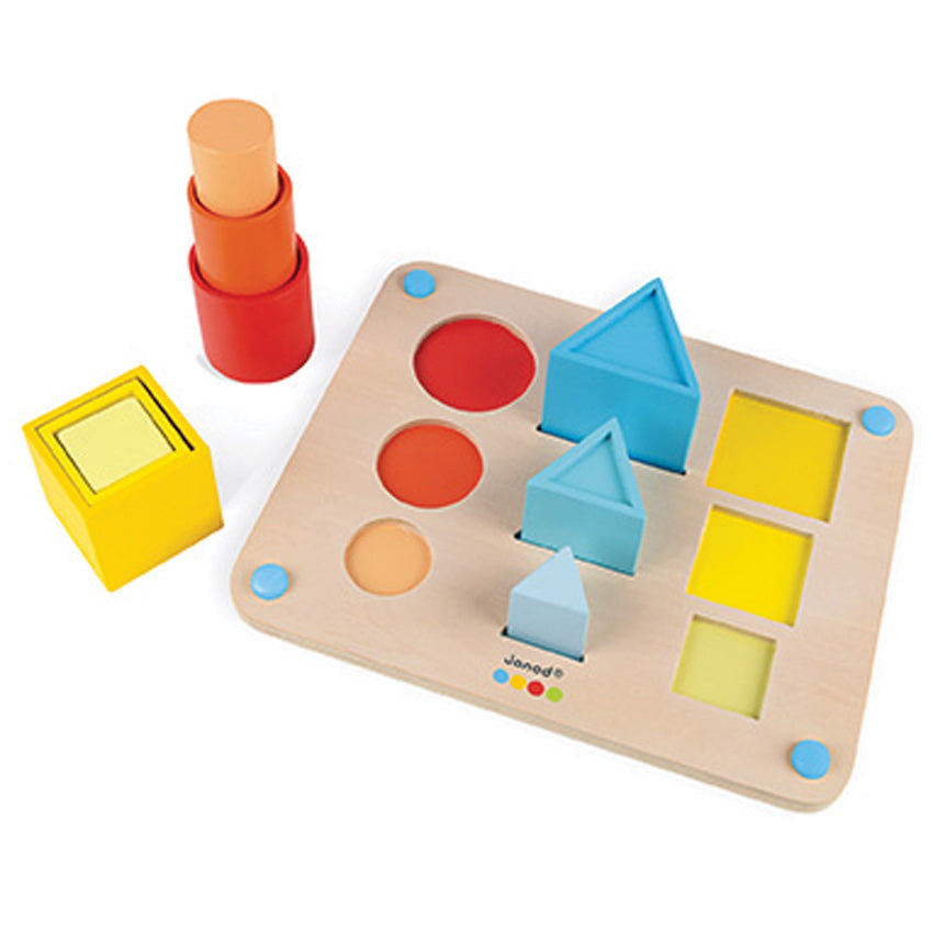 Janod Essentials Wooden Volume Toy at Little Sprout