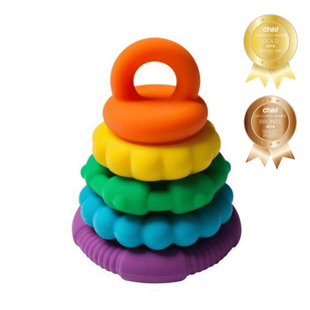 Jellystone Designs Rainbow Stacking and Teething Toy