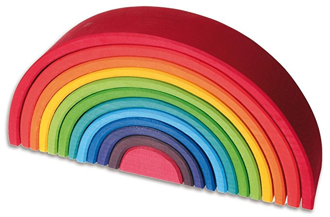 Large Grimms Wooden Rainbow Toy