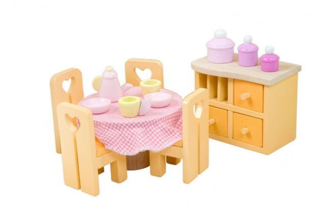 Le Toy Van Sugar Plum Dining Room set at Little Sprout