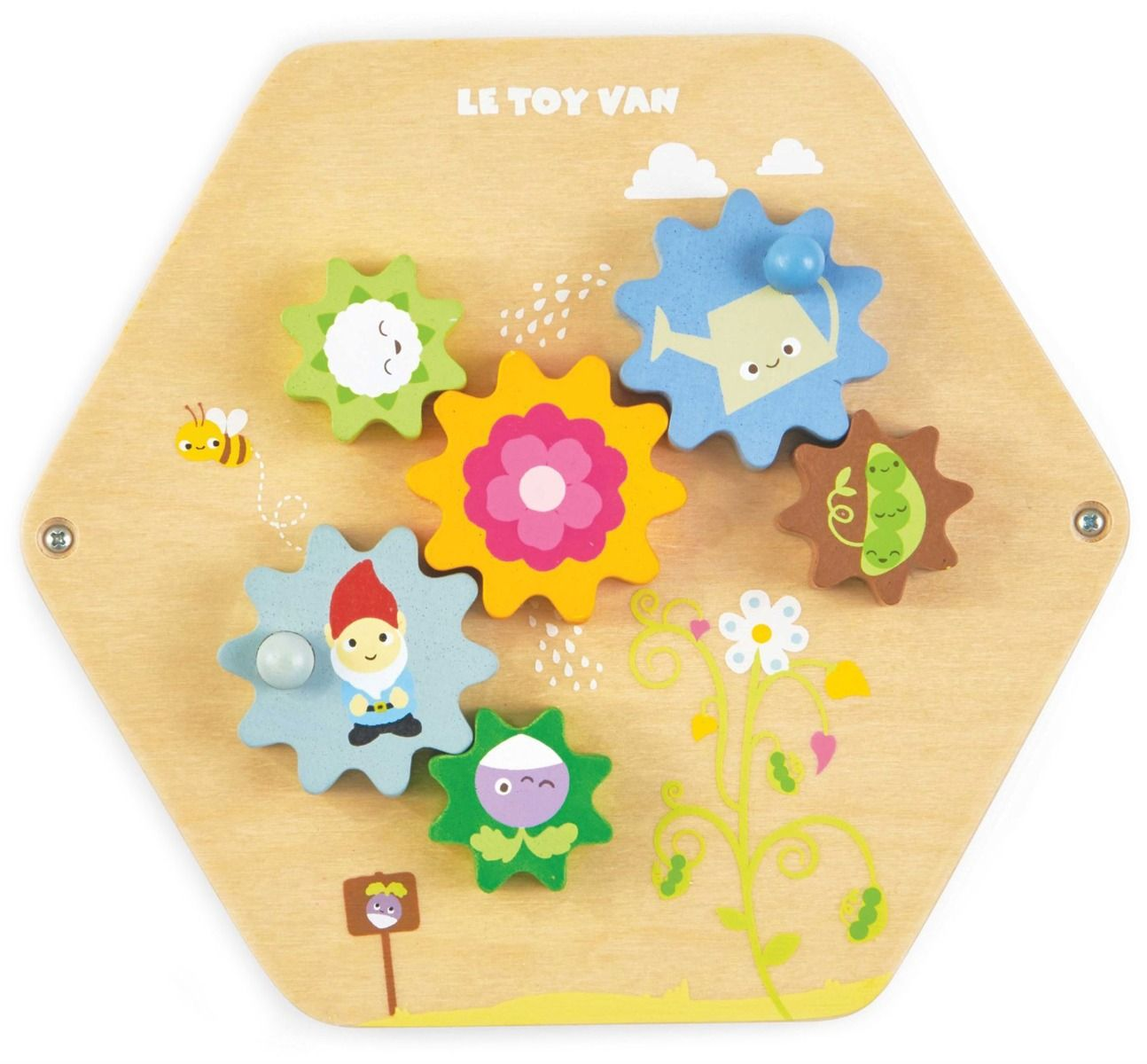 Le Toy Van wooden toddler activity disc - Gears