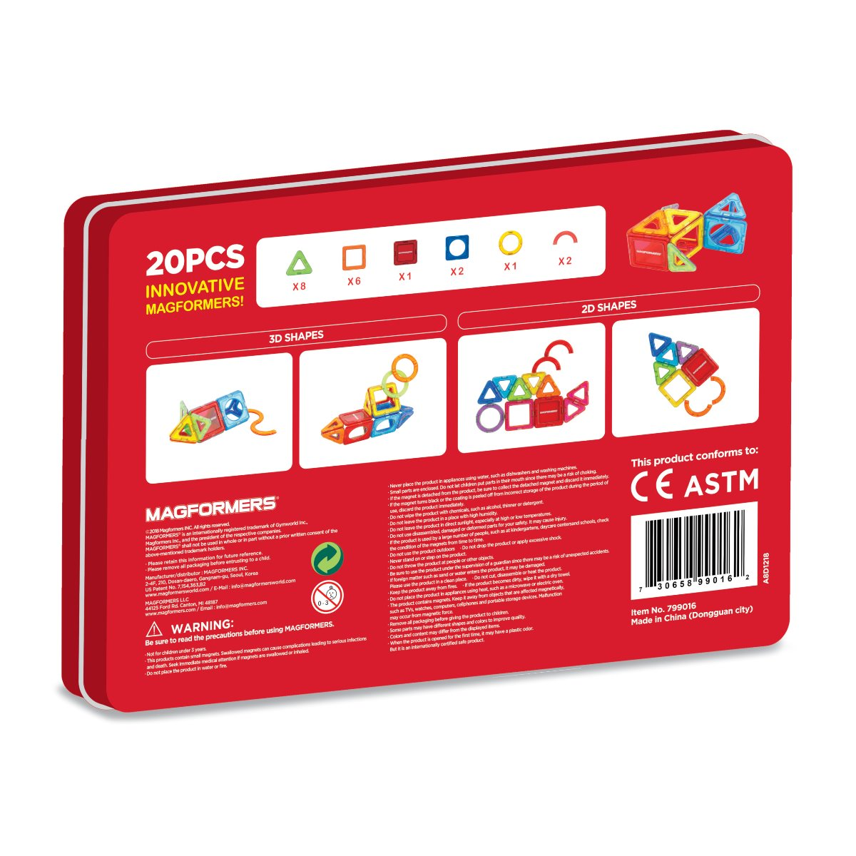 Magformers Shapes and More 20 Pc Set