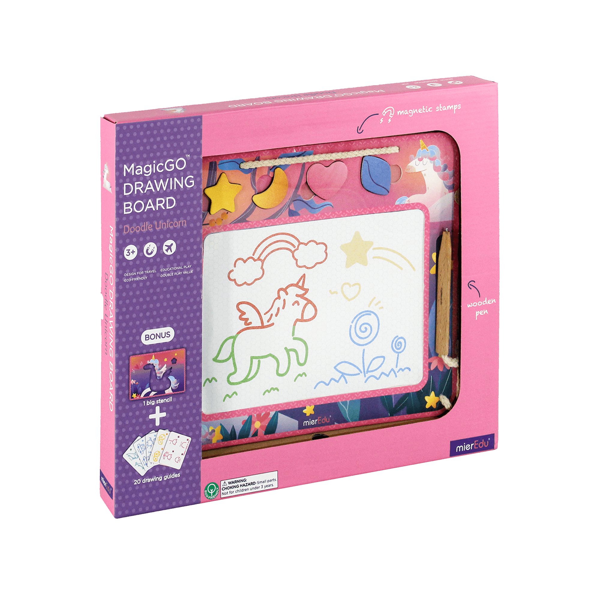 MierEdu MagicGo Drawing Board Unicorn box and toy