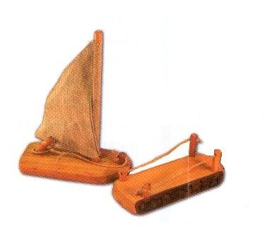 Magic Wood wooden sailboat and dock play set at Little Sprout