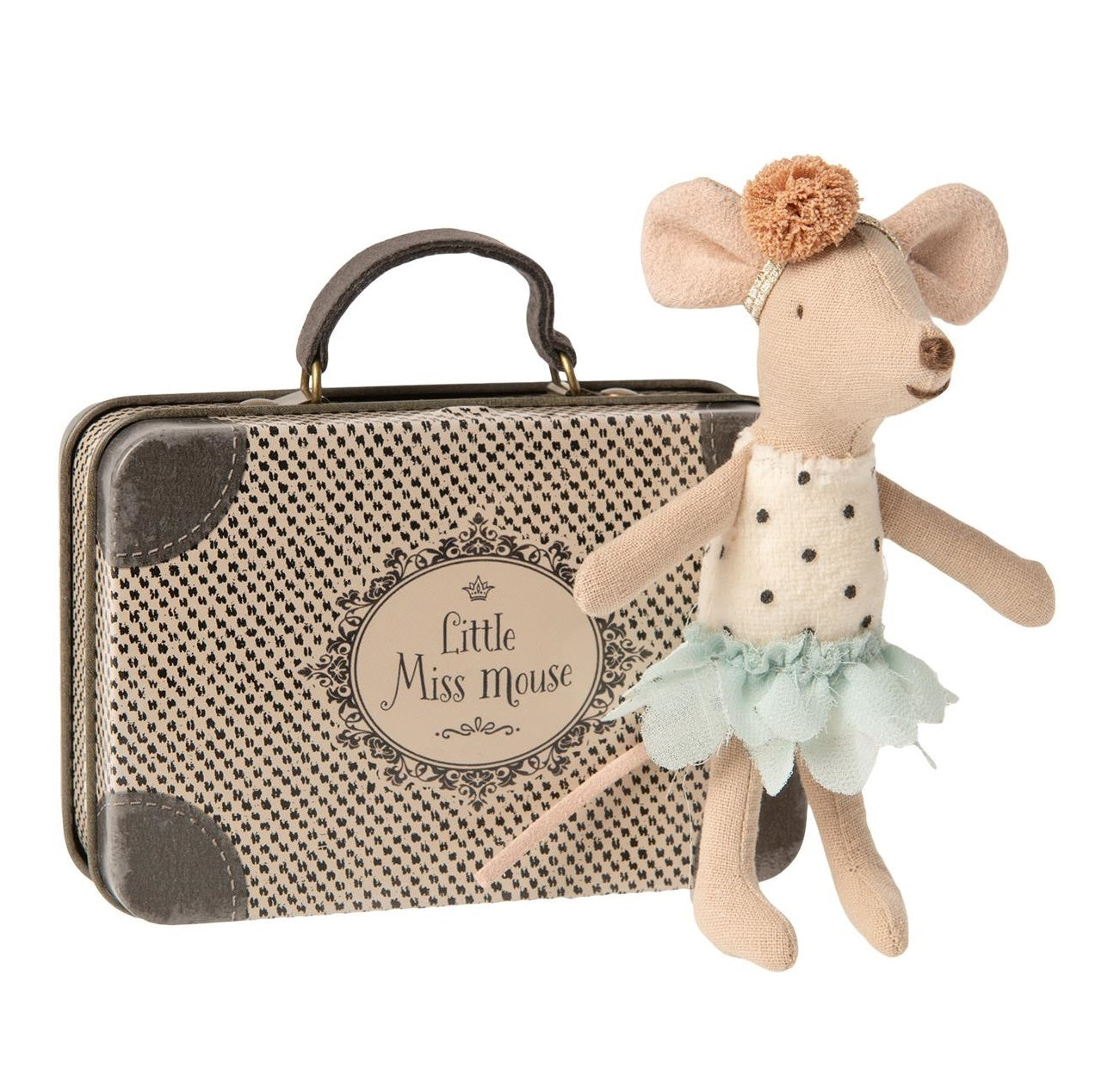 Maileg Little Miss Mouse in Suitcase at Little Sprout