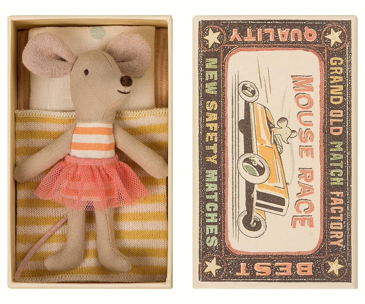 Maileg Mouse Little Sister in Matchbox available at Little Sprout