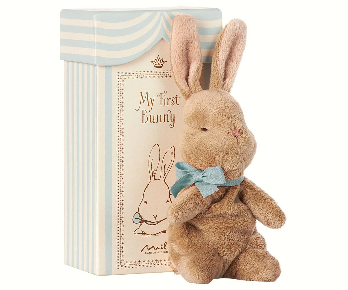 Maileg My First Bunny in Box Blue available at Little Sprout