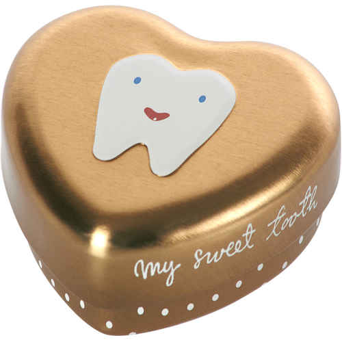 Maileg My Tooth Box Gold tin at Little Sprout