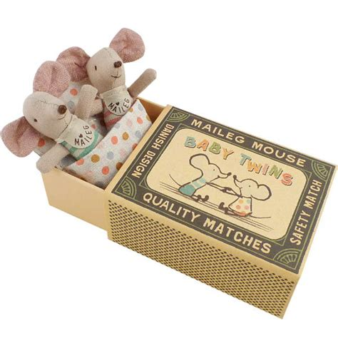 Maileg Mouse Baby Twins available at Little Sprout