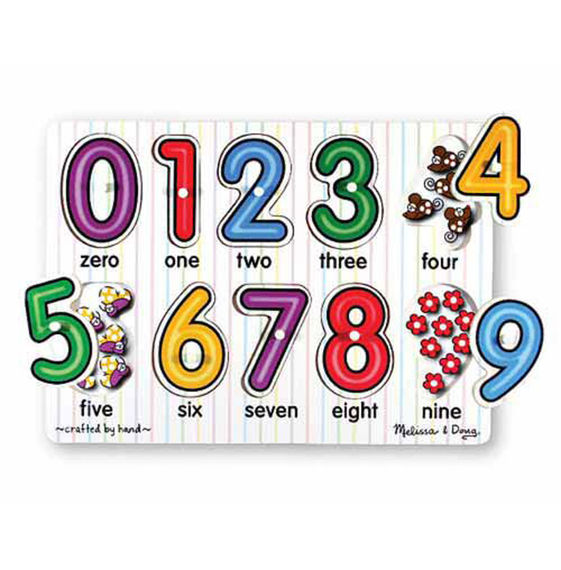 Melissa And Doug - Numbers Peg Puzzle 10pc