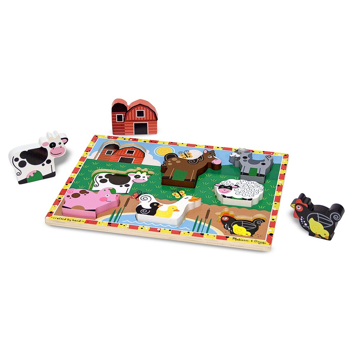 Melissa and Doug Chunky Wooden Animal puzzle at Little Sprout