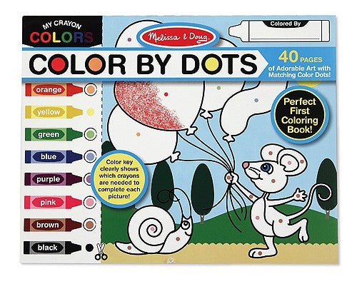 Melissa and Doug Colour By Dots book