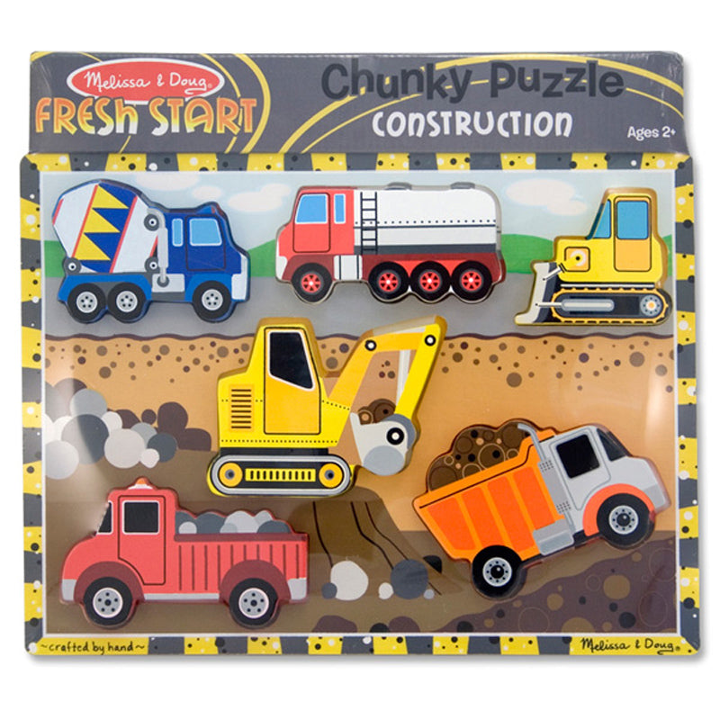 Melissa And Doug - Chunky Puzzle Construction 6pc