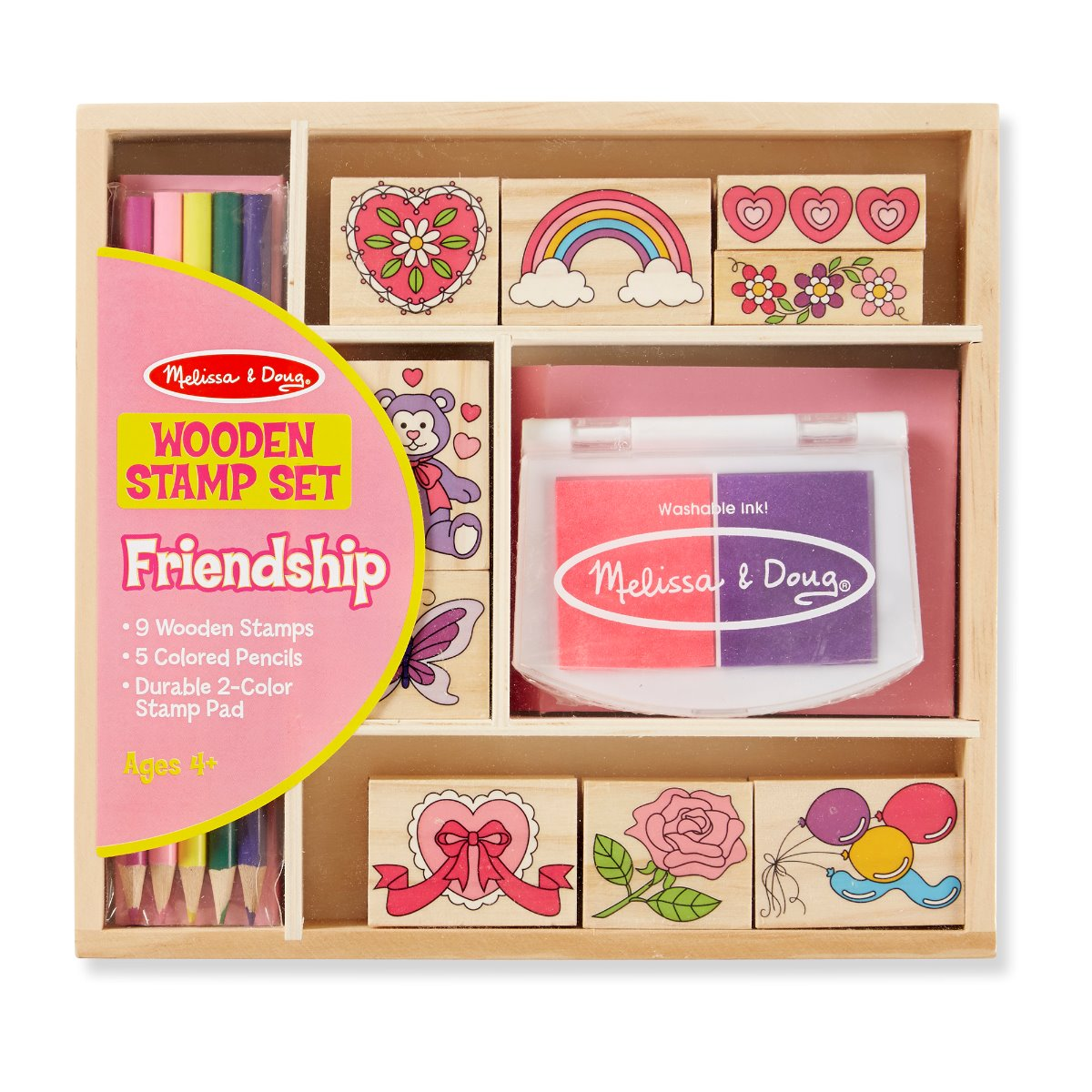 Melissa and Doug Wooden Stamp Set - Friendship