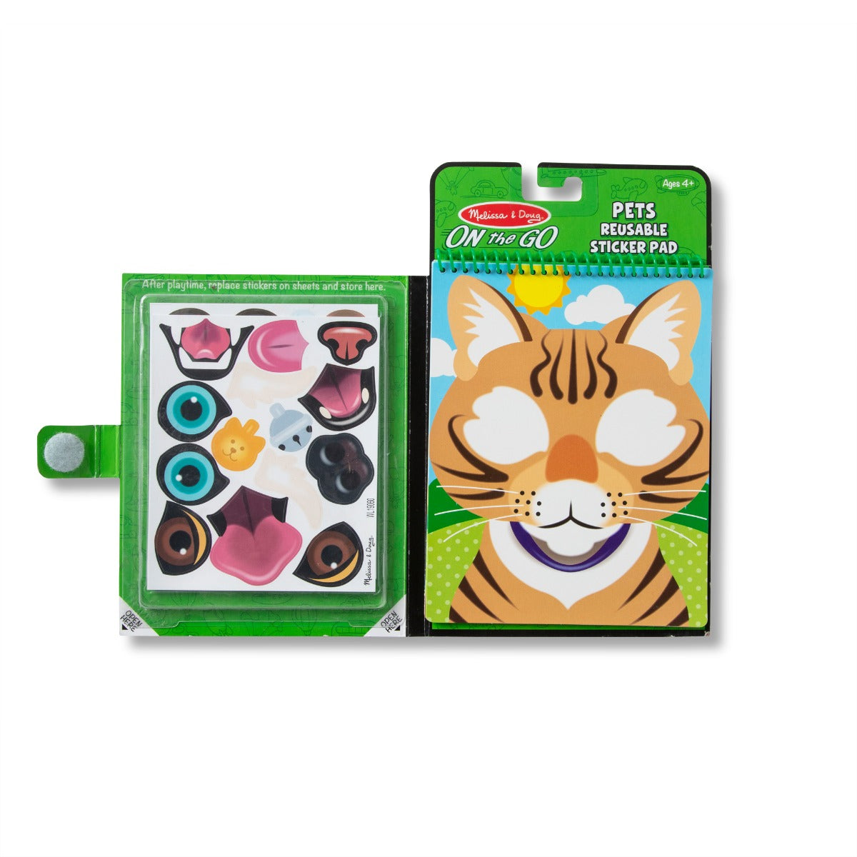 Melissa and Doug on the Go Make a Face Pets Sticker Pad