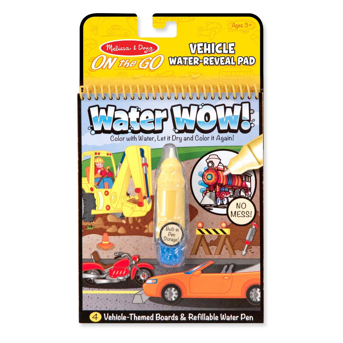 Melissa and Doug On the Go Water Wow Vehicle water-reveal pad