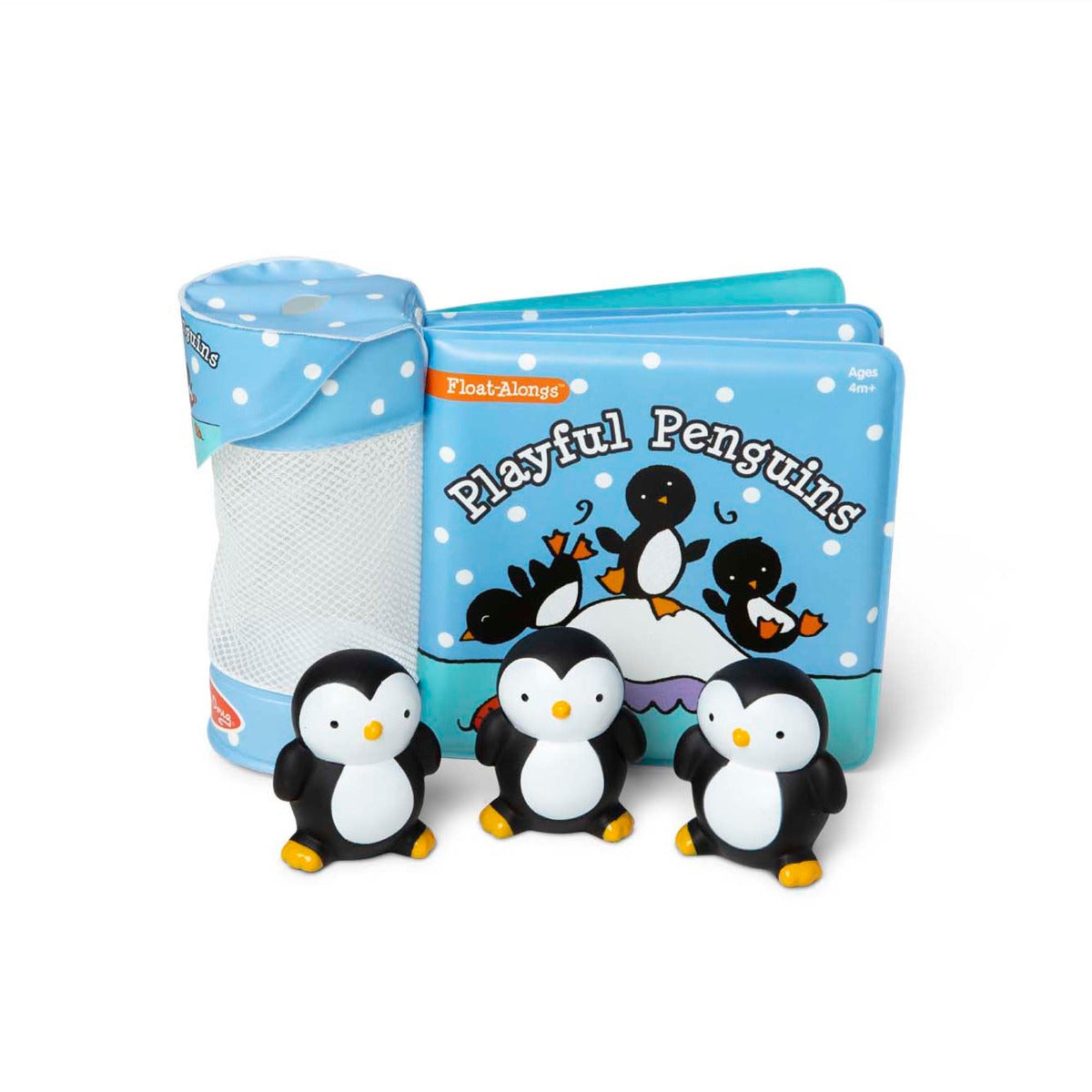 Melissa and Doug Float Alongs Playful Penguins book and bath toys