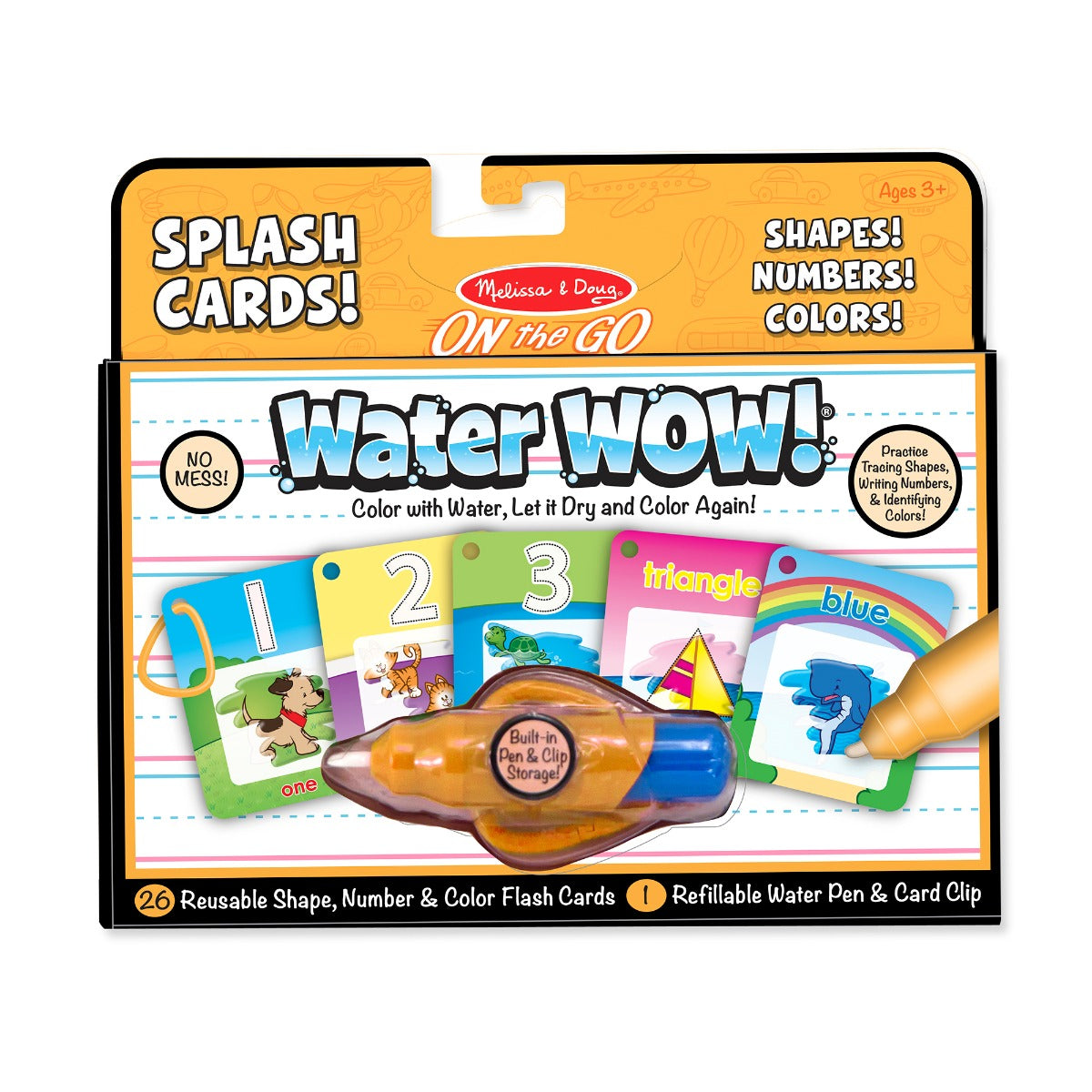 Melissa and Doug On the Go Water Wow Shapes Numbers Colours