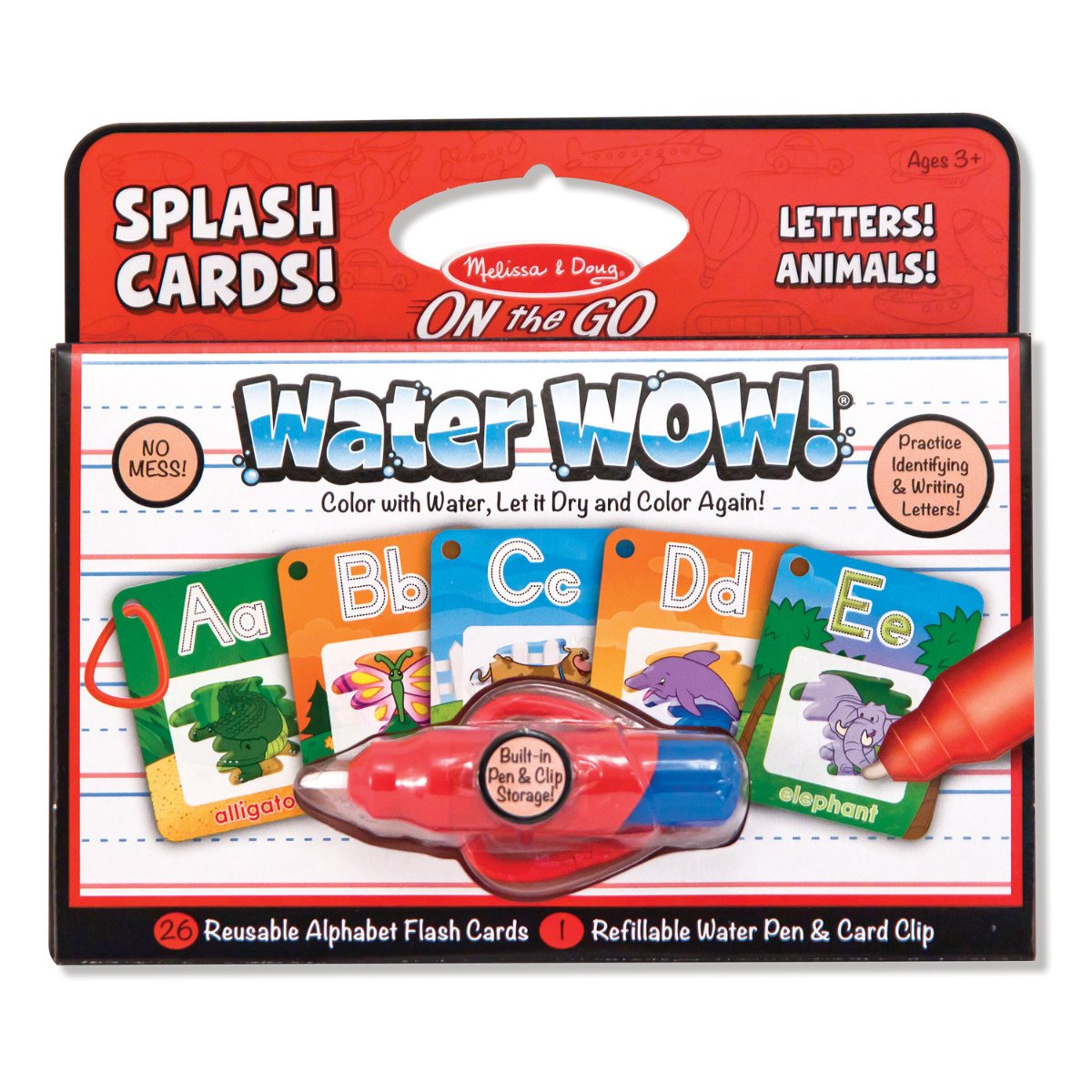 Melissa and Doug On the Go Water Wow Splash Cards with Letters and Animals