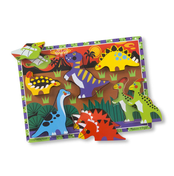 Melissa And Doug - Chunky Puzzle Dinosaurs 7pc