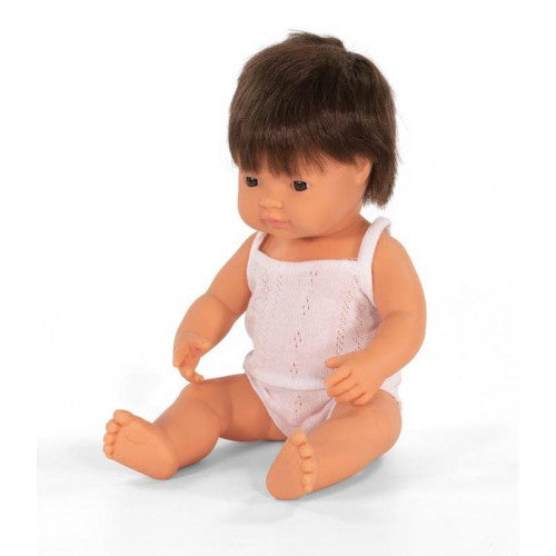 Miniland Brunette Boy Doll