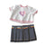 Miniland - Denim Skirt and Glitter Love shirt doll clothing at Little Sprout