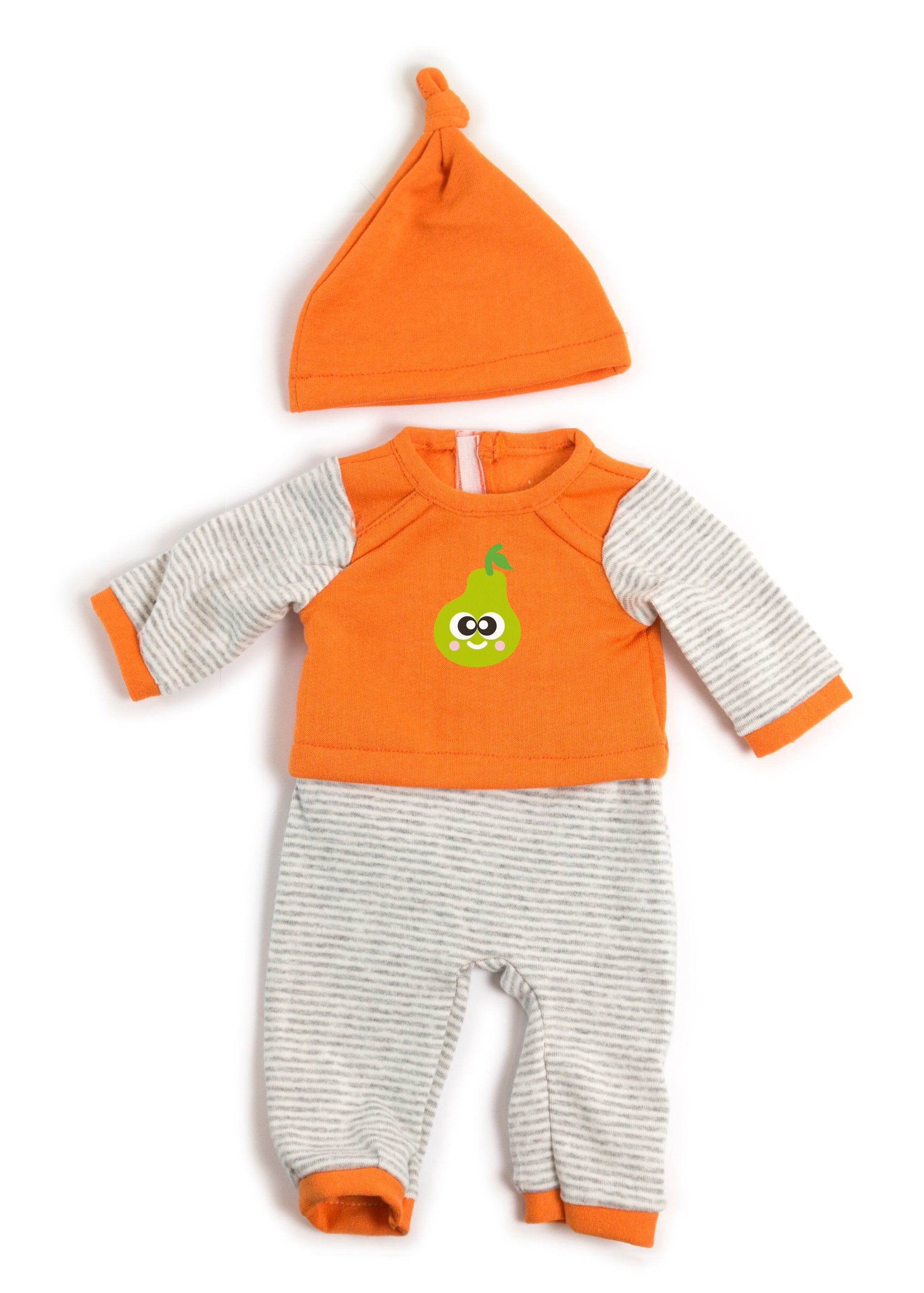 Miniland Orange Striped Pyjamas