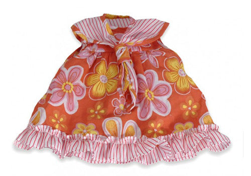 Miniland - Pink And Orange Floral Dress 40cm