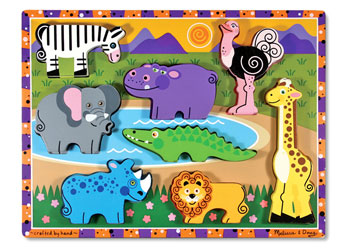 Melissa And Doug - Chunky Safari Puzzle 8 Pc