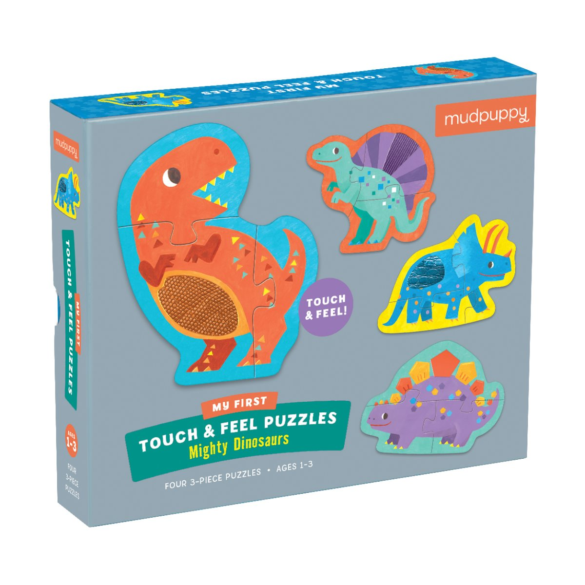 Mudpuppy My First Touch and Feel Puzzle - Mighty Dinosaurs