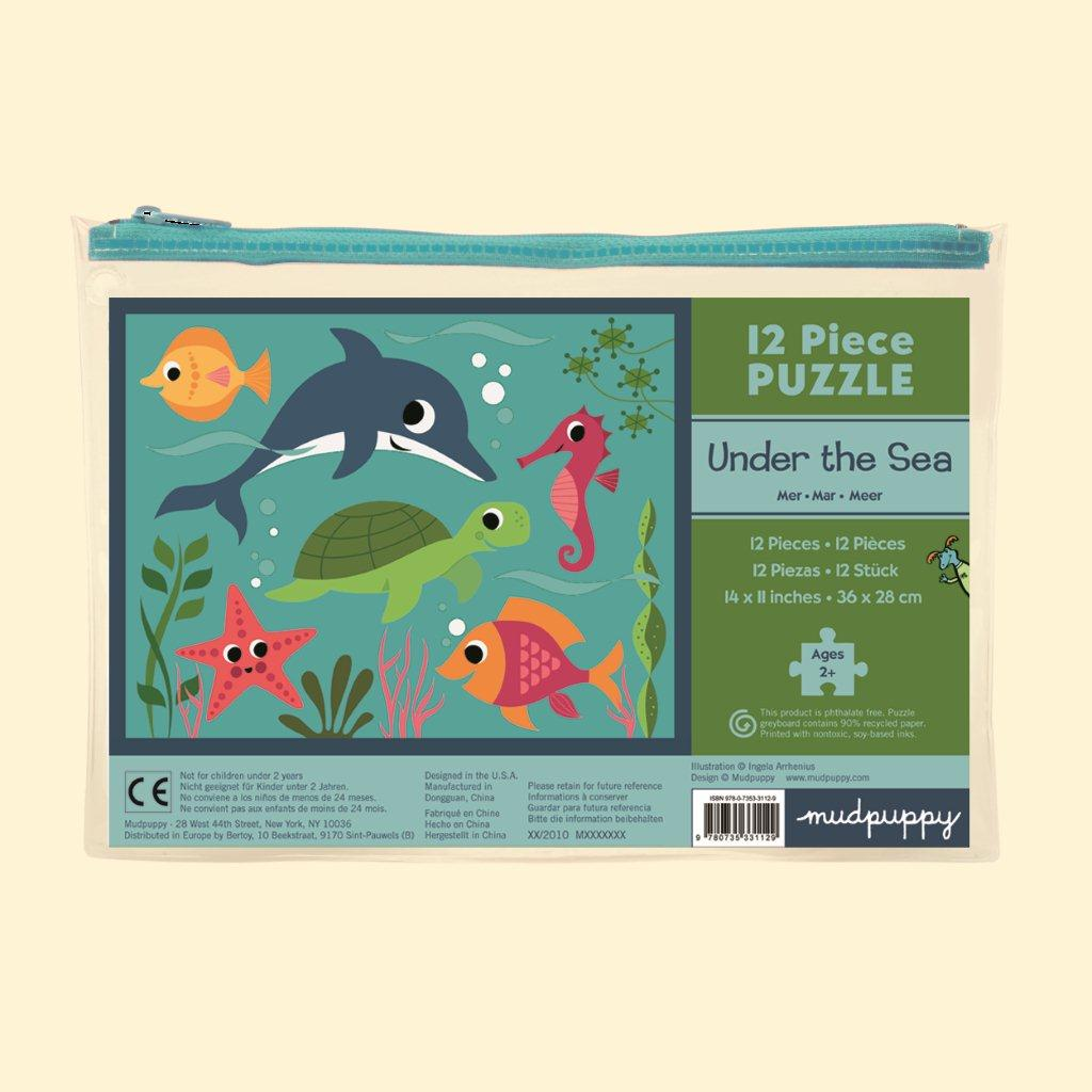Mudpuppy Pouch Puzzle Under the Sea