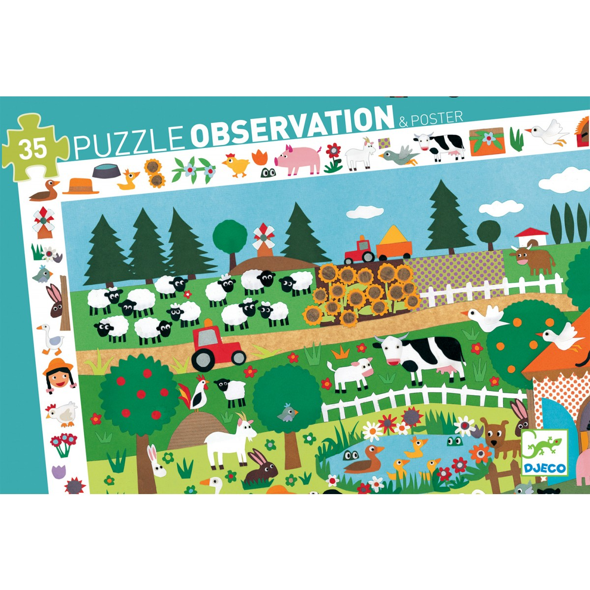Djeco - Observation Puzzle The Farm 35 Pc