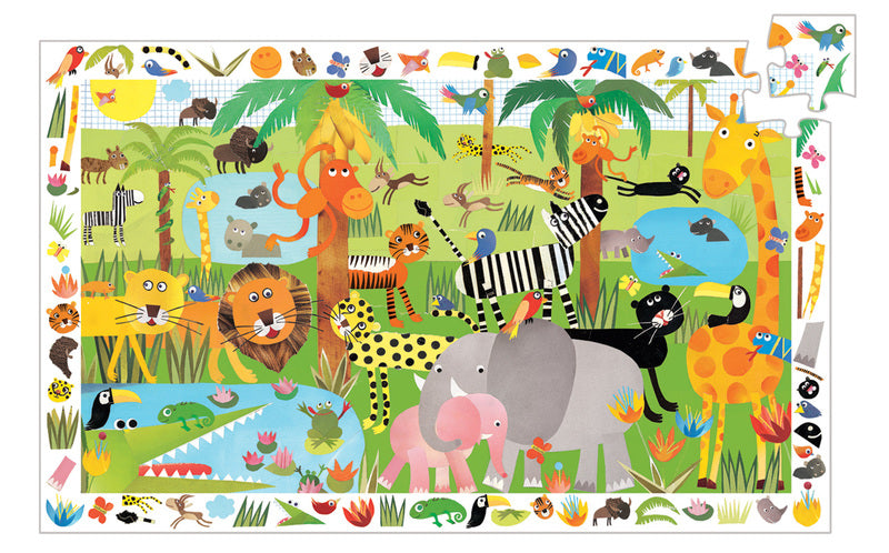Djeco - Observation Puzzle Jungle 35 Pc