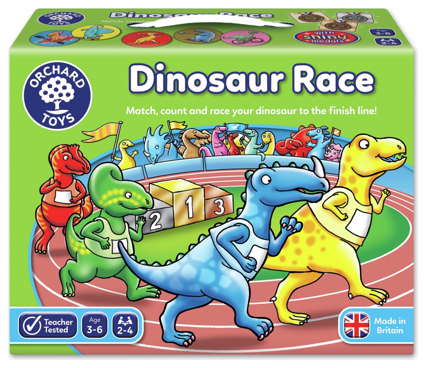 Orchard Toys Dinosaur Race educational game box