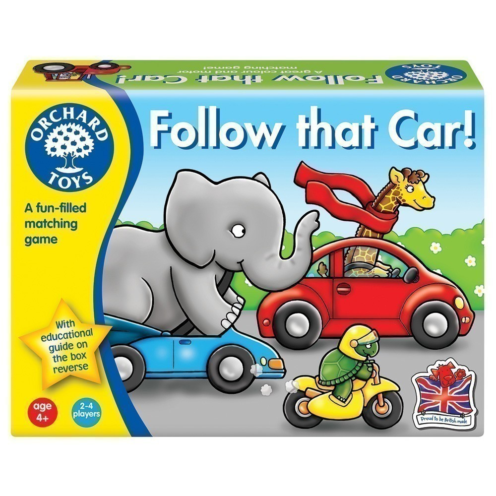 Follow that Car! game by Orchard Toys