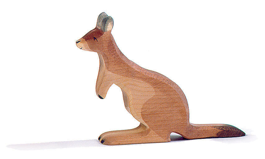 Ostheimer Wooden Father Kangaroo at Little Sprout