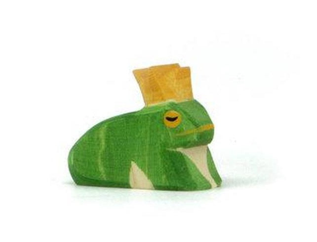 Ostheimer wooden Frog Prince toy at Little Sprout