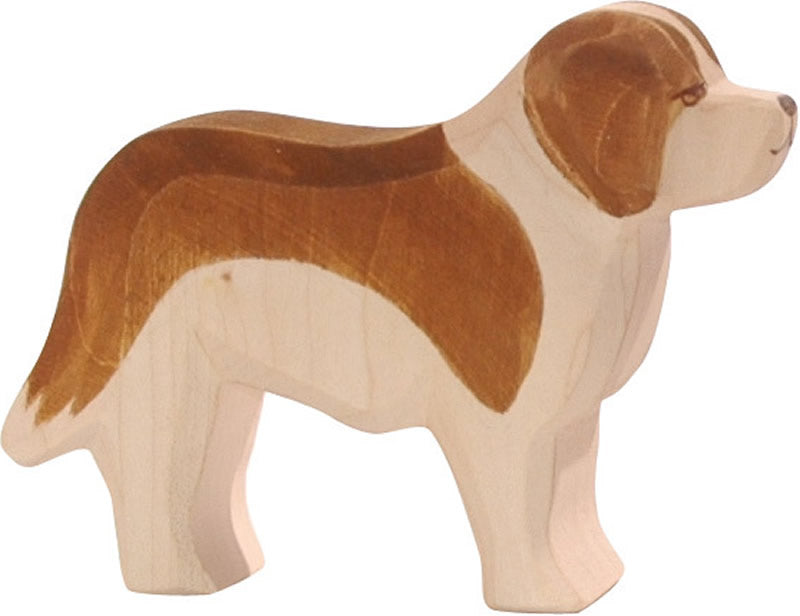 Ostheimer St Bernard wooden dog toy available at Little Sprout