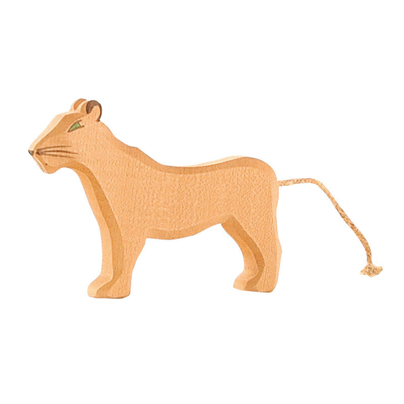 Ostheimer wooden female lion toy at Little Sprout