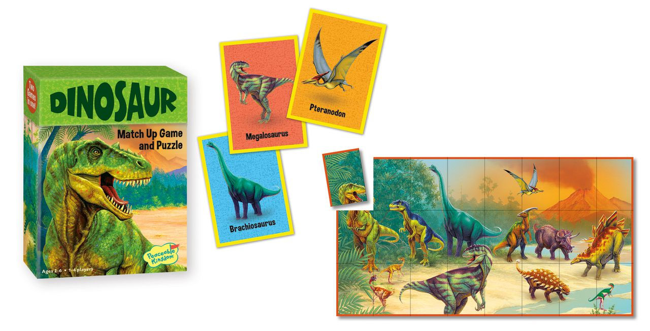 Peaceable Kingdom Dinosaur Match Up Game and Puzzle