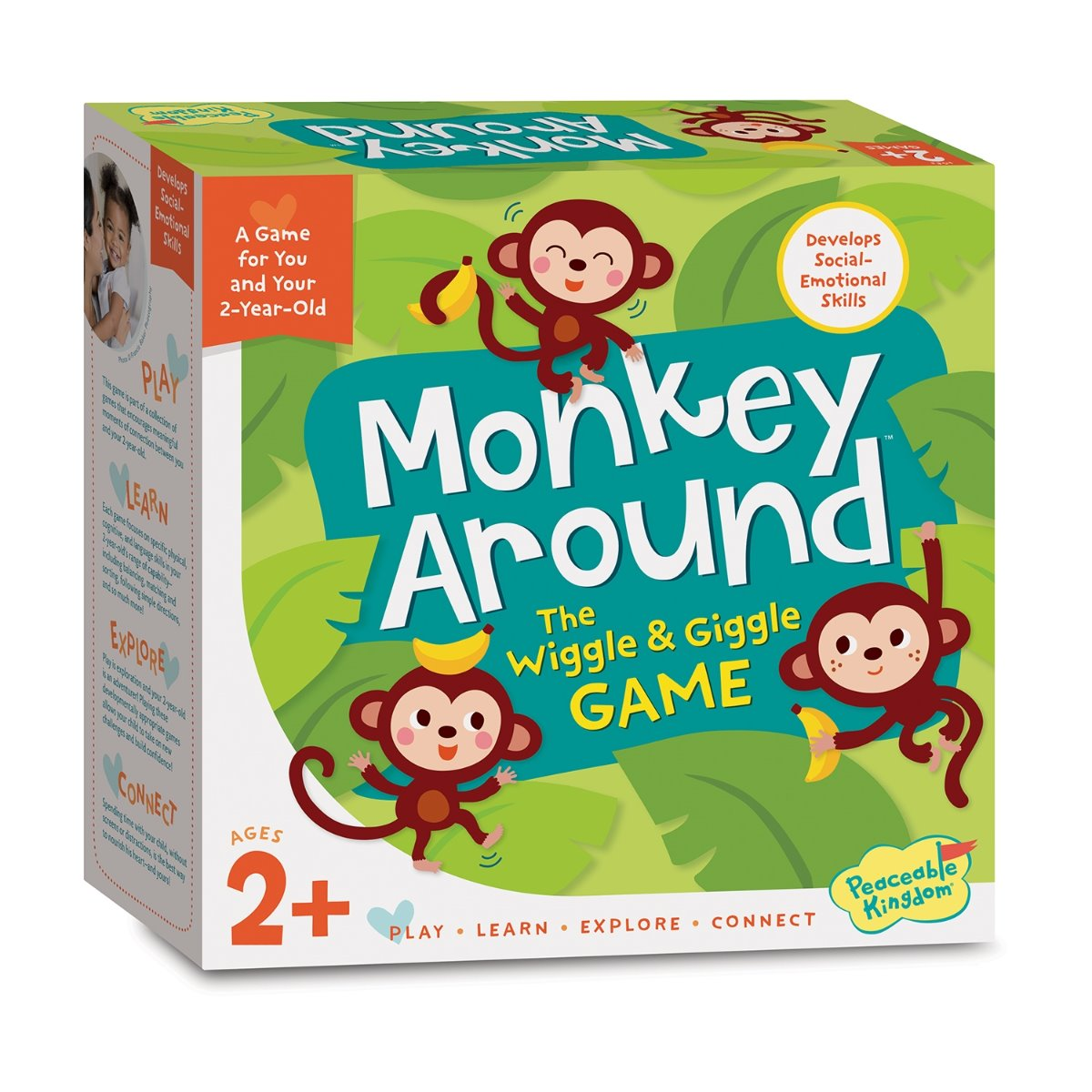 Peaceable Kingdom Monkey Around - The Wiggle and Giggle Game for Toddlers