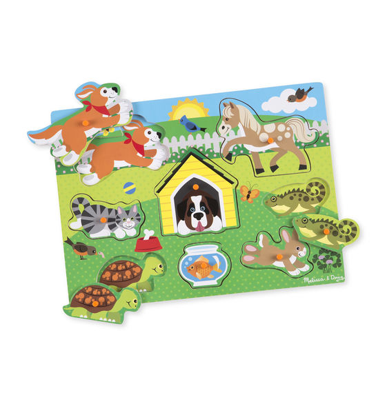 Melissa And Doug - Peg Puzzle Pets 8pc