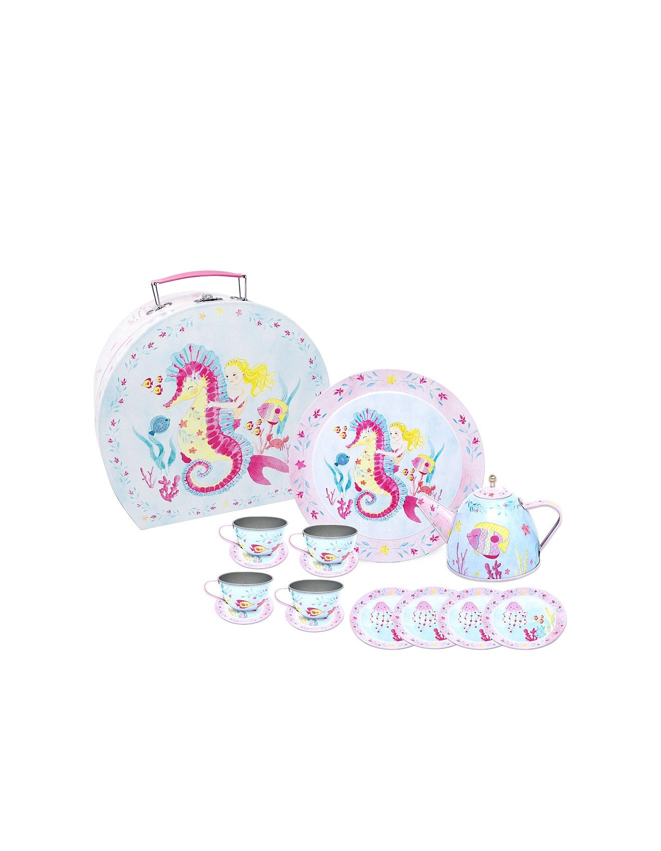 Pink Poppy Mermaid Tea Set