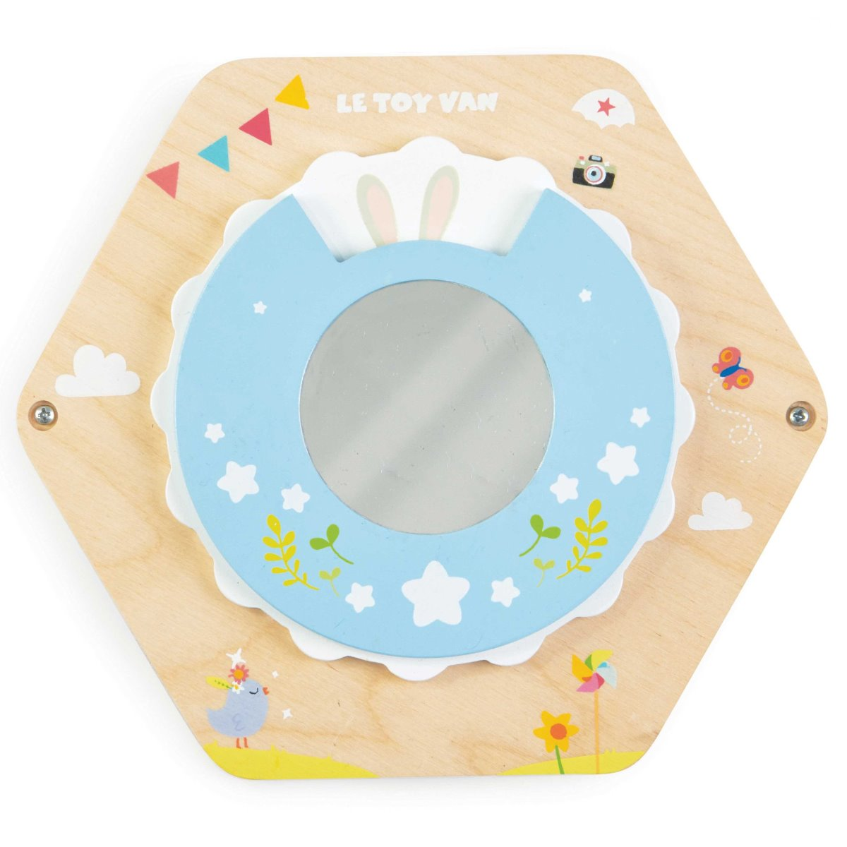 Petilou Activity Tile Mirror - flowers