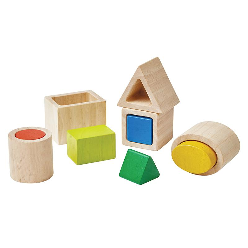 Wooden Plan Toys Geo Blocks
