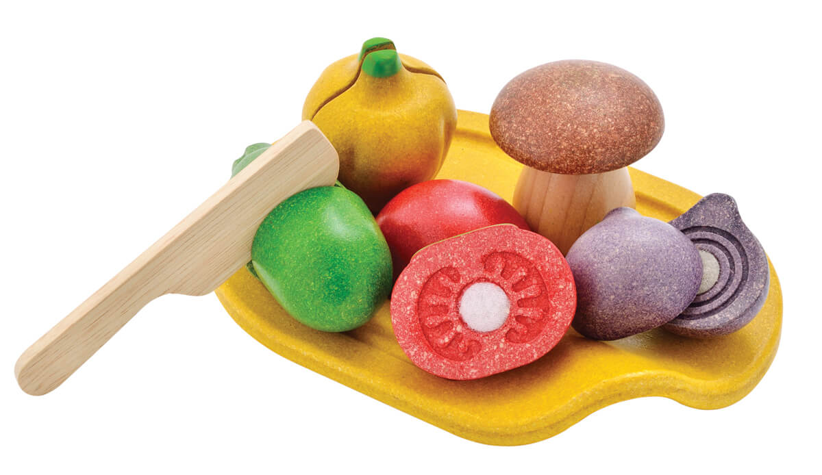 Plan Toys Assorted Vegetable wooden toy set