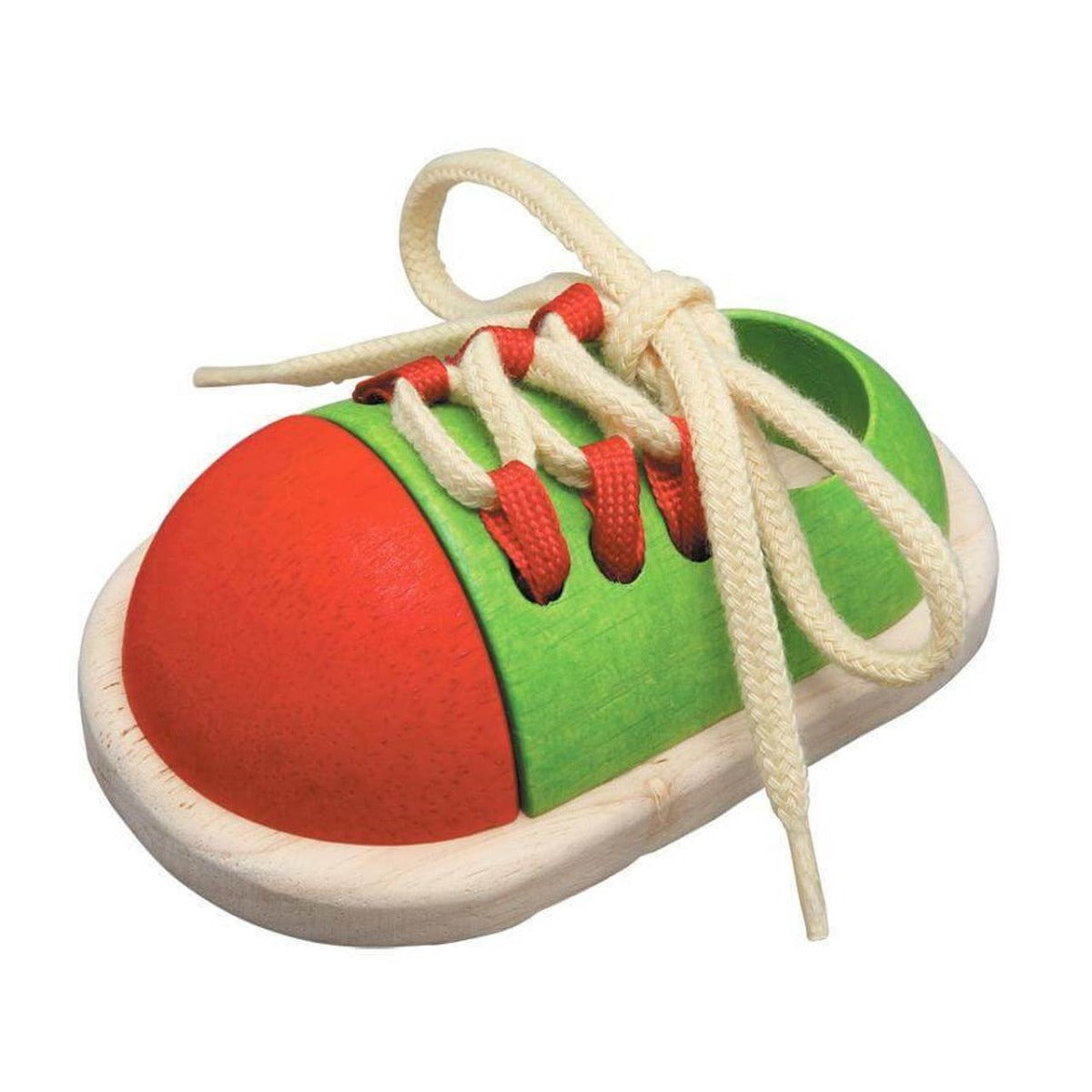 Plan Toys Wooden Tie Up Shoe with laces