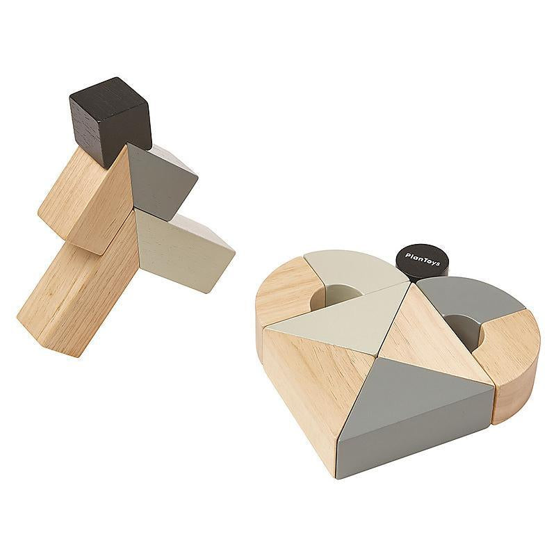 Plan Toys wooden twisted blocks set