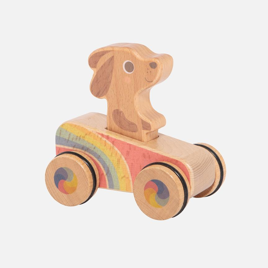 Tiger Tribe Dash Hound wooden baby toy