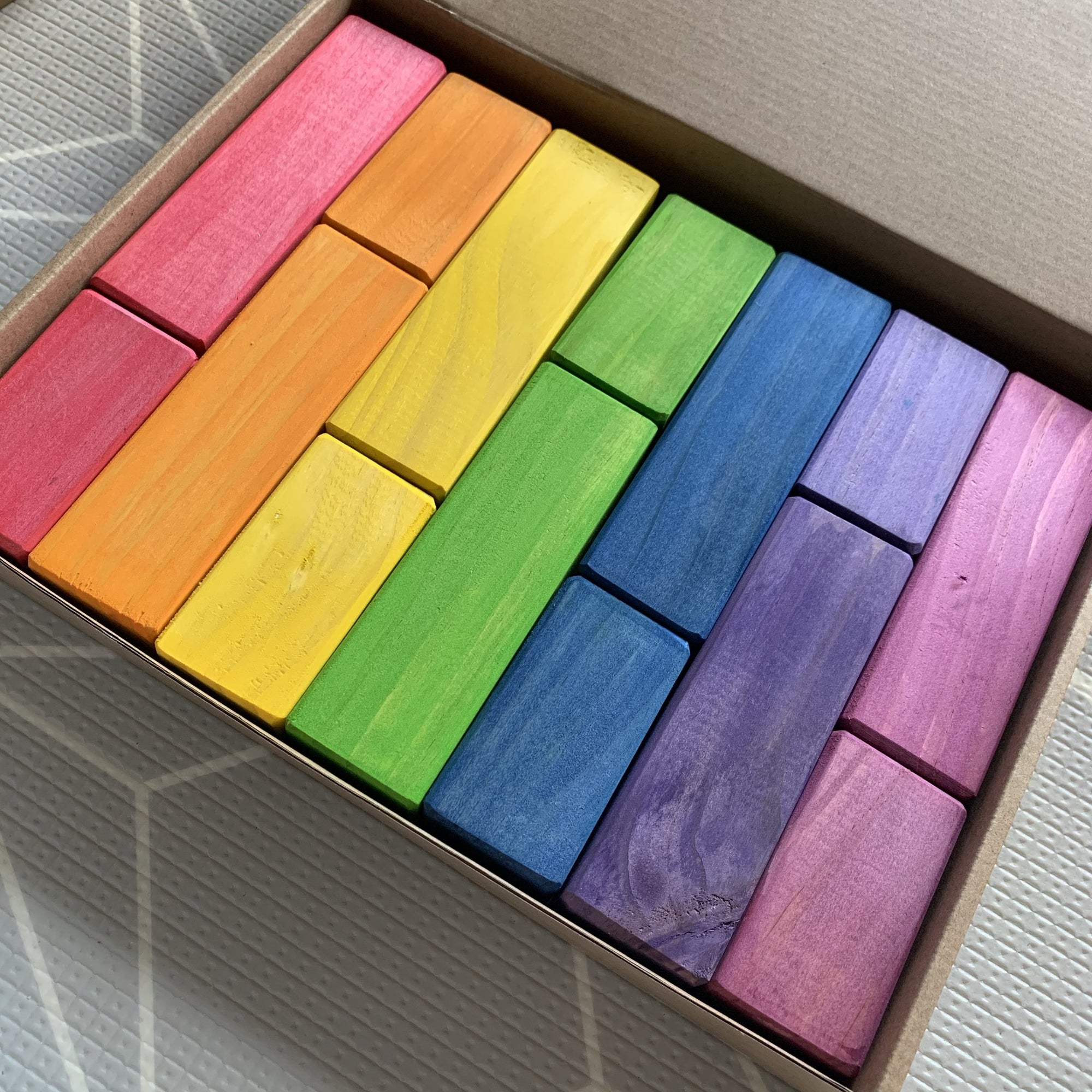 Rata and Roo Rainbow Square Prism Mixed Blocks